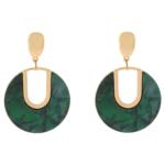 Accessorise - Alba Statement Green Resin Earrings